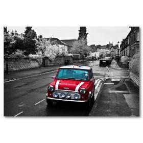 Αφίσα (κόκκινος, αυτοκίνητο, μαύρο, λευκό, άσπρο)